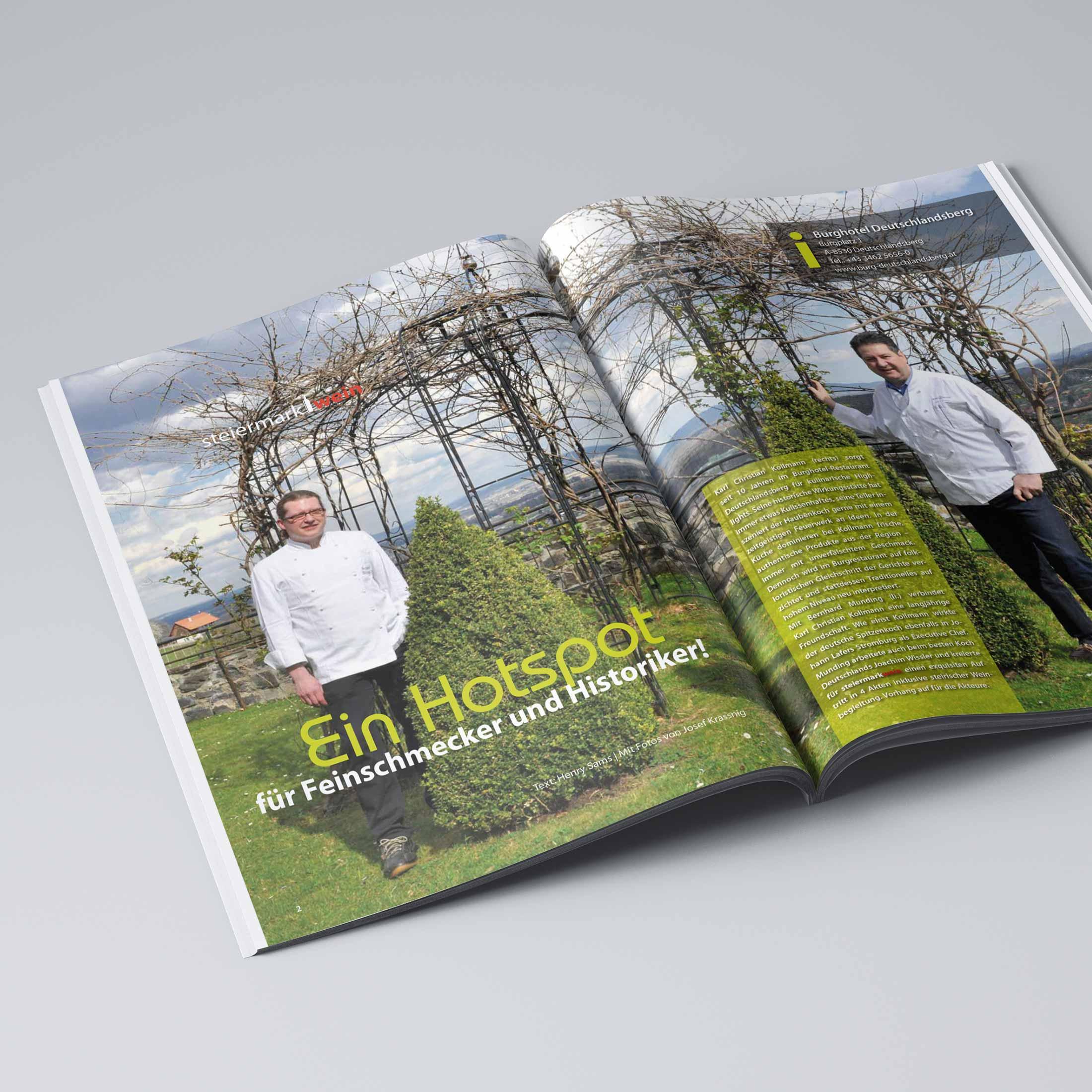 """Artikel im Magazin """"steiermarkwein"""""""